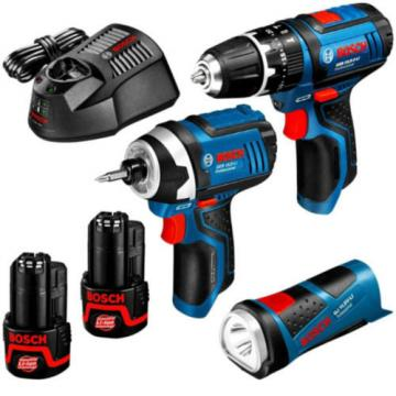 New Bosch 10.8V 2.5Ah Li-ion Cordless 6pce Kit