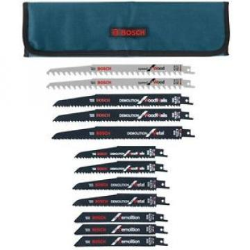 Bosch Demolition Reciprocating Blade Set with Cloth Pouch (12-Piece)