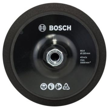 Bosch 2608612027 150 mm Diameter M14 Backing Pad with Velcro Type Fasteni... NEW