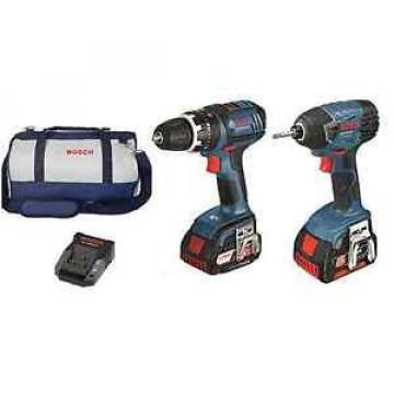 Bosch Blue CORDLESS DRILL KIT 18V Li-ion 2Pcs,Electronic Motor & Cell Protection