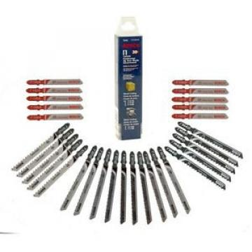Bosch T-Shank Jig Saw Blade Set for Cutting Wood and Metal (30-Piece)