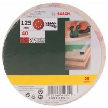 Bosch 2607019491 25 Fogli Abrasivi Roto-orbitale, Grana 40, 125 mm