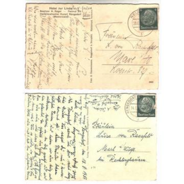 Kr.Neuwied: RENGSDORF AK 1937, Hotel zur Linde belebt / MBK (Mühle,Strandbad, +)