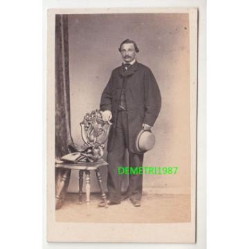 Linde Gotha CdV Foto - feiner Herr in feinen Zwirn - um 1865 ! (F69