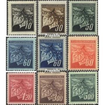 Tchécoslovaquie 424-432 (édition complète) neuf 1945 lInde branche