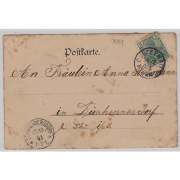 2943, Staupitz Gasthof zur Linde Belegschaft davor gelaufen 1901 !