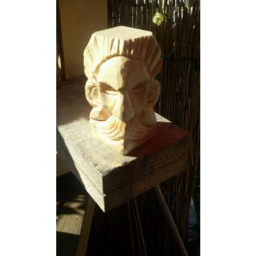 Wikinger Gesicht Holzfigur Hand geschnitzt aus Linde Schnitzholz Kunsthandwerk
