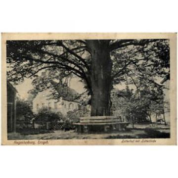 AUGUSTUSBURG Erzgebirge Sachsen um 1920 Lotterhof mit Lotter-Linde alter Baum