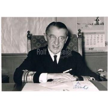 "Norway Admiral Aage Linde genuine autograph signed 5""x7"" photo 1967"