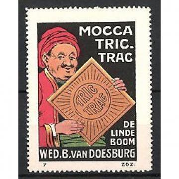 Reklamemarke Mijdrecht-Amsterdam, Mocca Tric-Trac Keks, De Linde Boom, Wed. B.