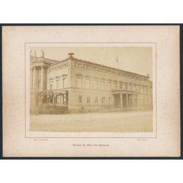 Fotografie von Senteck, Ansicht Berlin, Partie am Kaiserpalais, Unter den Linde
