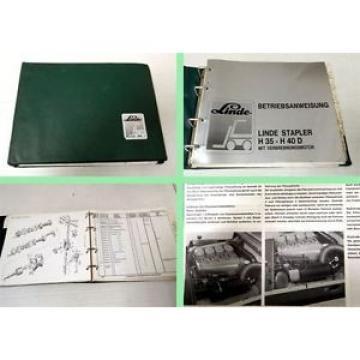 Linde H35 H40D Stapler Betriebsanleitung Ersatzteilliste 1978/81