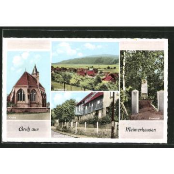 tolle AK Meimerhausen, Kirche, Gasthaus zur Linde, Ehrenmal