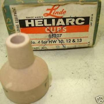 Linde Tig Nozzle Size 4 Heliarc Cup RARE 85Z07