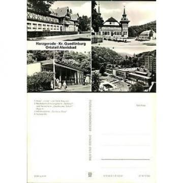Postkarte41726 - Harzgerode - 4 Ansichten - Hotel Linde und Cafe Exquisit - Reic