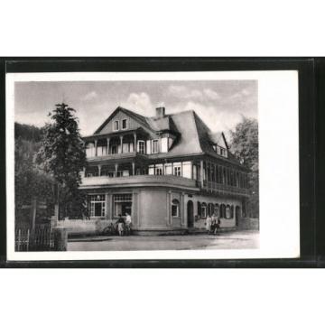 schöne AK Sitzendorf, HO-Hotel Zur Linde 1958