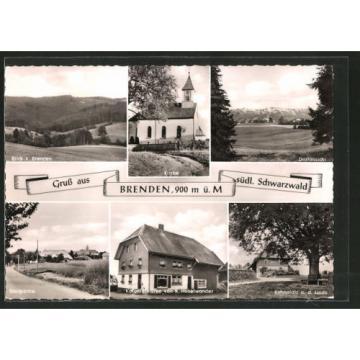 AK Brenden, Kolonialwarenhandlung v. K. Haselwander, Ruheplatz an der Linde, Ki