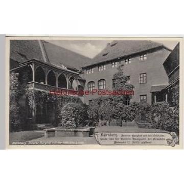 (107499) AK Nürnberg, Innerer Burghof mit 1000jähriger Linde, vor 1945
