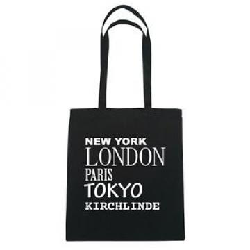 New York, London, Paris, Tokyo KIRCH-LINDE - Jute Bag Bag - color: black