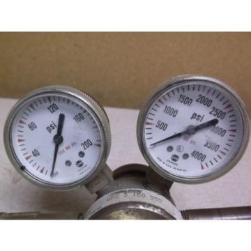 Linde Gas Regulator UPE-3-150 350 w/ 2 Pressure Gauges *FREE SHIPPING*