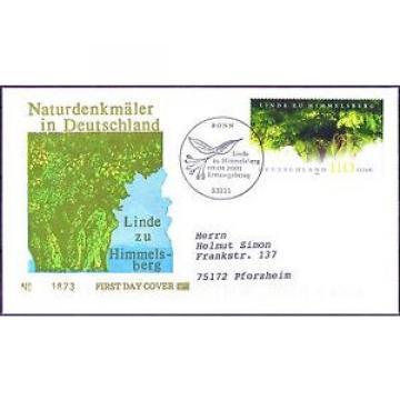 BRD 2001: Himmelsberg-Linde! FDC Nr. 2208 mit Bonner Sonderstempel! Gelaufen! 1A