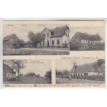 16816 Linde Dorfstr. Gasthof Schule 1909  (r2348)