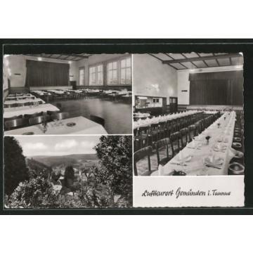 alte AK Gemünden, Gasthaus Zur Linde 1963