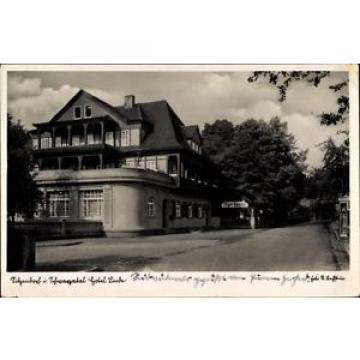 Ak Sitzendorf in Thüringen, Ansicht des Hotel Linde, Straßenpartie - 1384514