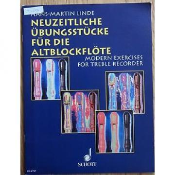 Neuzeitliche Übungsstücke für Altblockflöte von Hans Martin Linde