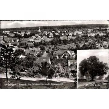 Ak Arnbach Neuenbürg Enzkreis, Alte Linde mit Blick auf den Ort - 1160969