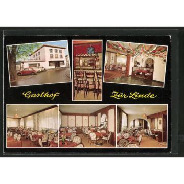 tolle AK Holzhausen, Gasthof Pension Cafe zur Linde, Außen- u. Innenansichten