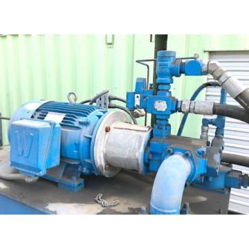 30 HP INDUSTRIAL HYDRAULIC POWER PUMP UNIT w/ 380 GALLON TANK