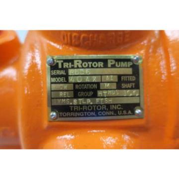 NEW TRI-ROTOR 40AX 2X2 IN NPT 40GPM PISTON HYDRAULIC PUMP D555198