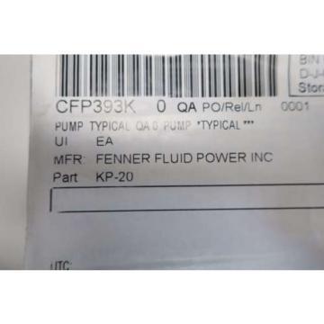 NEW FENNER KP-20 SINGLE STAGE HYDRAULIC GEAR PUMP D534524