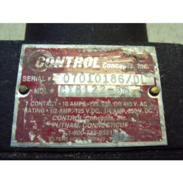 CONTROL CONCEPTS CI8122-5B  10 AMPS  USED