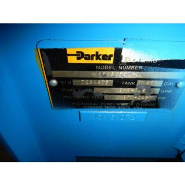 Parker PVP23 5HP, 9 GPM Hydraulic Power Unit