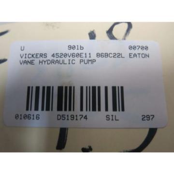 EATON VICKERS 4520V60E11 86BC22L HYDRAULIC VANE PUMP D519174