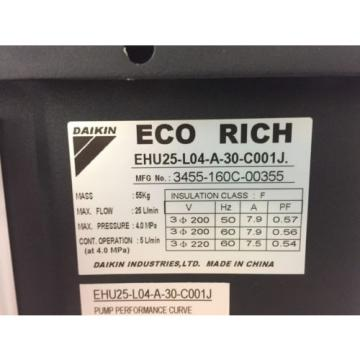 Daikin Eco-Rich Hydraulic Unit EHU25-L04-A-30-C001J