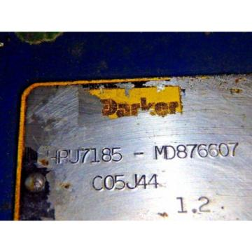 PARKER HYDRAULIC POWER UNIT HPU7185-MD876607_C05J44_MOTOR: : MESC1P7C-10
