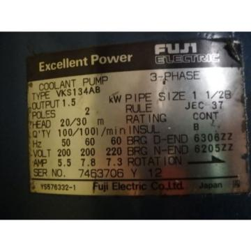 FUJI ELECTRIC 3 PHASE ELECTRIC COOLANT PUMP VKS134AB