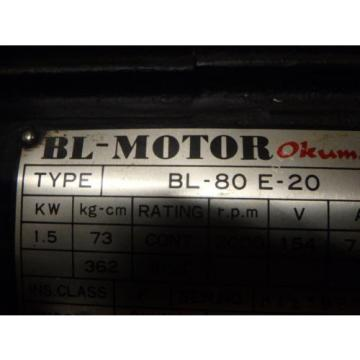 OKUMA BL MOTOR_BL-80E-20 with Encoder_OKUMA TYPE E_1566