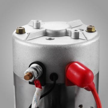 DOUBLE ACTING HYDRAULIC PUMP 12V DUMP TRAILER 6 QUART CAR LIFT REMOTE RESERVOIR
