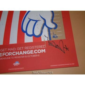 Tristan Eaton Vote For Change Barack Obama Poster Print Signed 2008 Gas Pump
