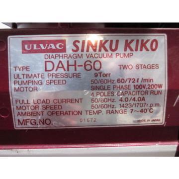 EATON DAA-V-155-FB PUMP Vacuum 2 STAGE, 72L/min, 9 TORR , 100V-200W