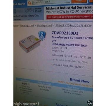 DENISON FLOW CONTROL VALVE # ZDV-P-02-1-S0-D1-098-91034-0
