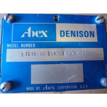 ABEX DENISON MODEL # D1D1235103 0 03-4 DIRECTIONAL VALVE - REPAIRED