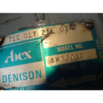Denison Abex Hydraulic Vane Pump T1C01721L T1C-017-21L Parker