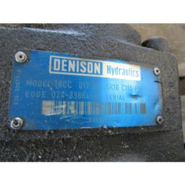 Denison Hydraulic Pump T6CC 017 010 5R10 C110 P31 Used