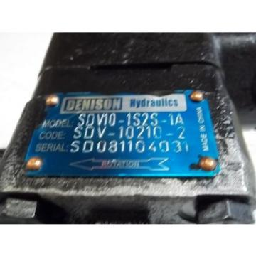 DENISON HYDRAULICS SDV-10210-2 HYDRAULIC PUMP Origin NO BOX