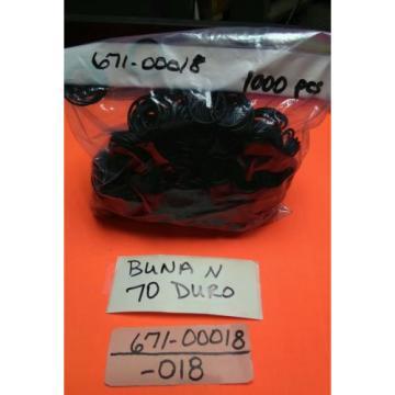 O-Rings -018 Buna N 70 Duro Denison p/n 671-00018, 1000 pcs
